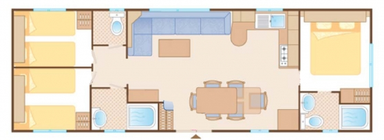Floor plan of above mobile home caravan